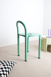 Green Kartell stool by Ferrieri