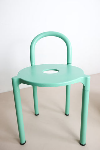 80's mint green Kartell stool