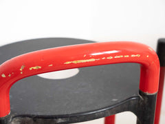 Retro red Kartell Polo stools