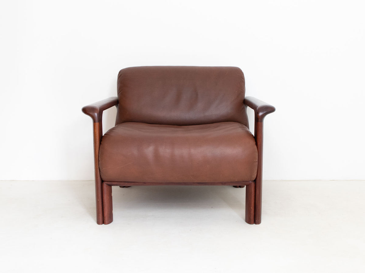 Retro burgundy leather chair