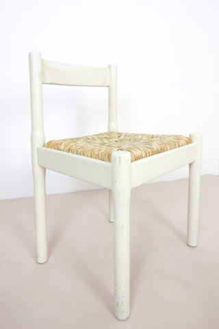 vintage original white Magistretti Carimate chair