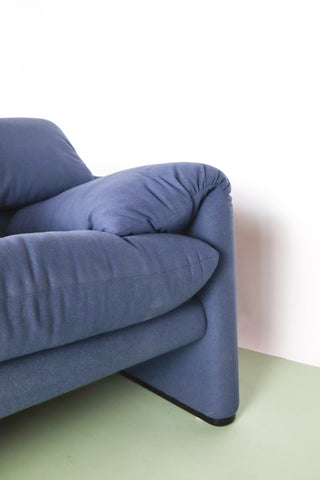 Blue Maralunga armchair London