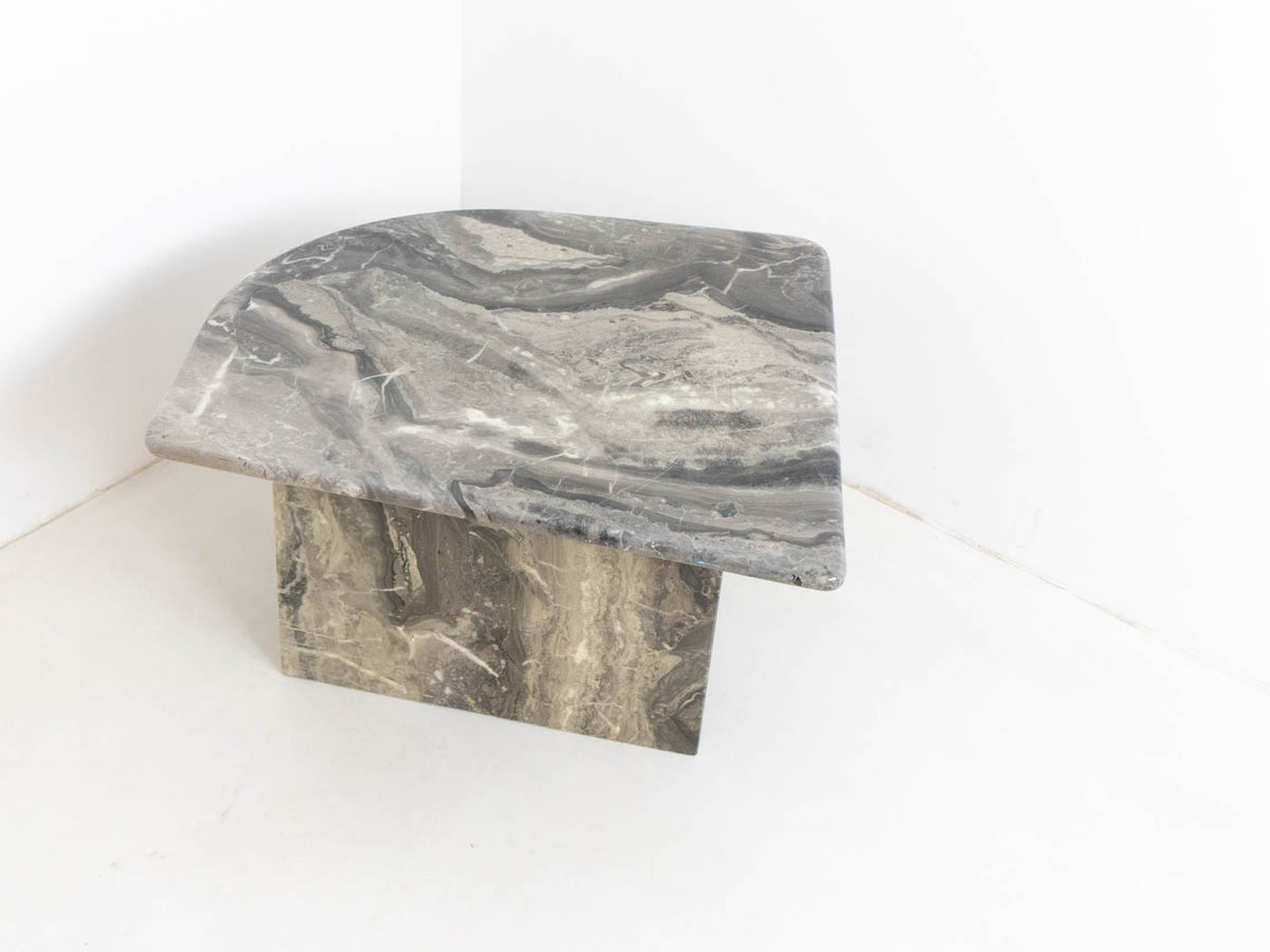 Grey marble side table