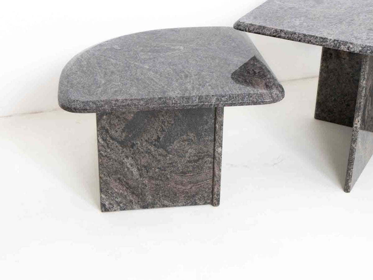 Retro Italian marble nesting table