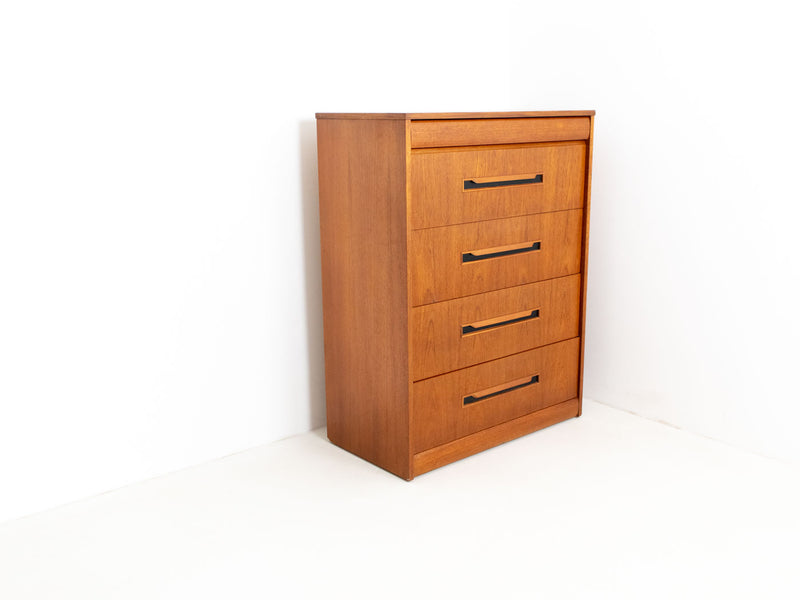 Vintage Mid Century Tallboy Chest of Drawers