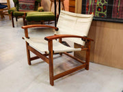 Vintage solid wood armchair