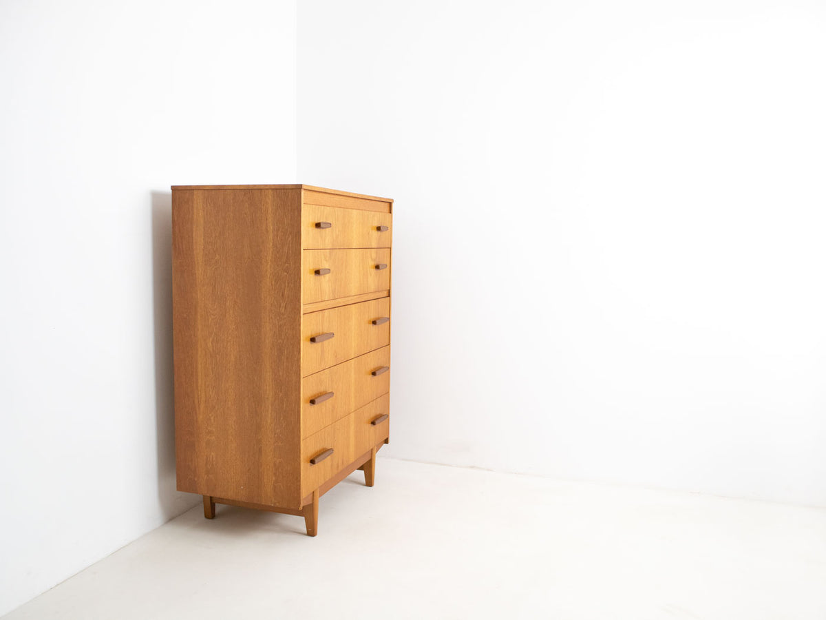 Mid century modern tallboy chest of drawers
