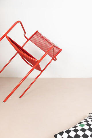 Spaghetti Stacking Chairs by Alias - Red