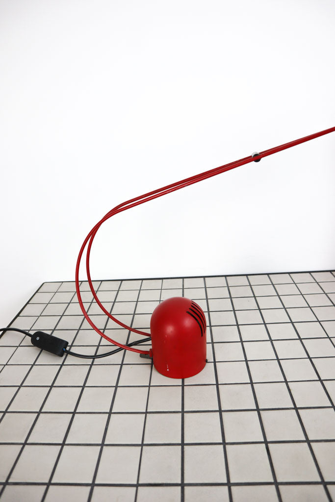 Red vintage desk light