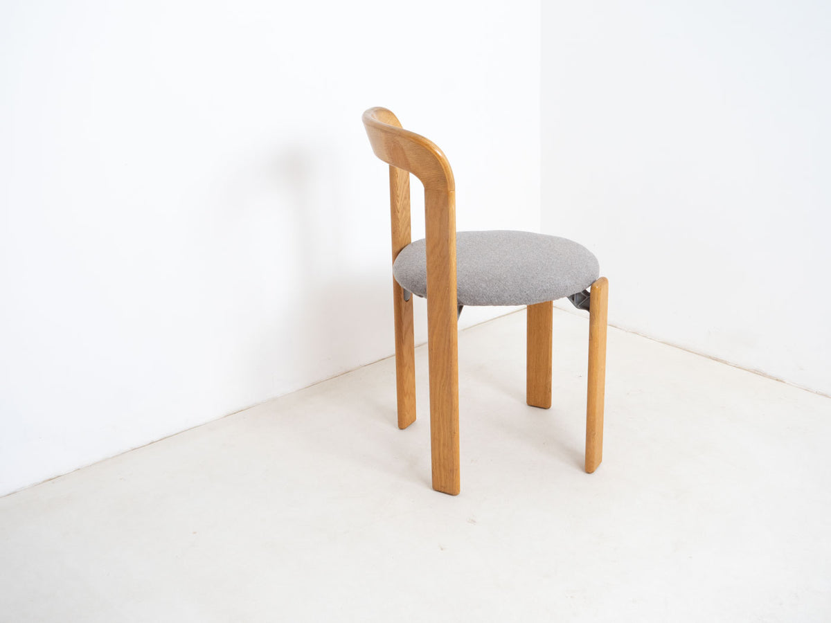 Oak stacking chair