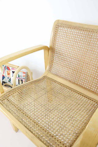 Vintage Bentwood and Rattan Armchair