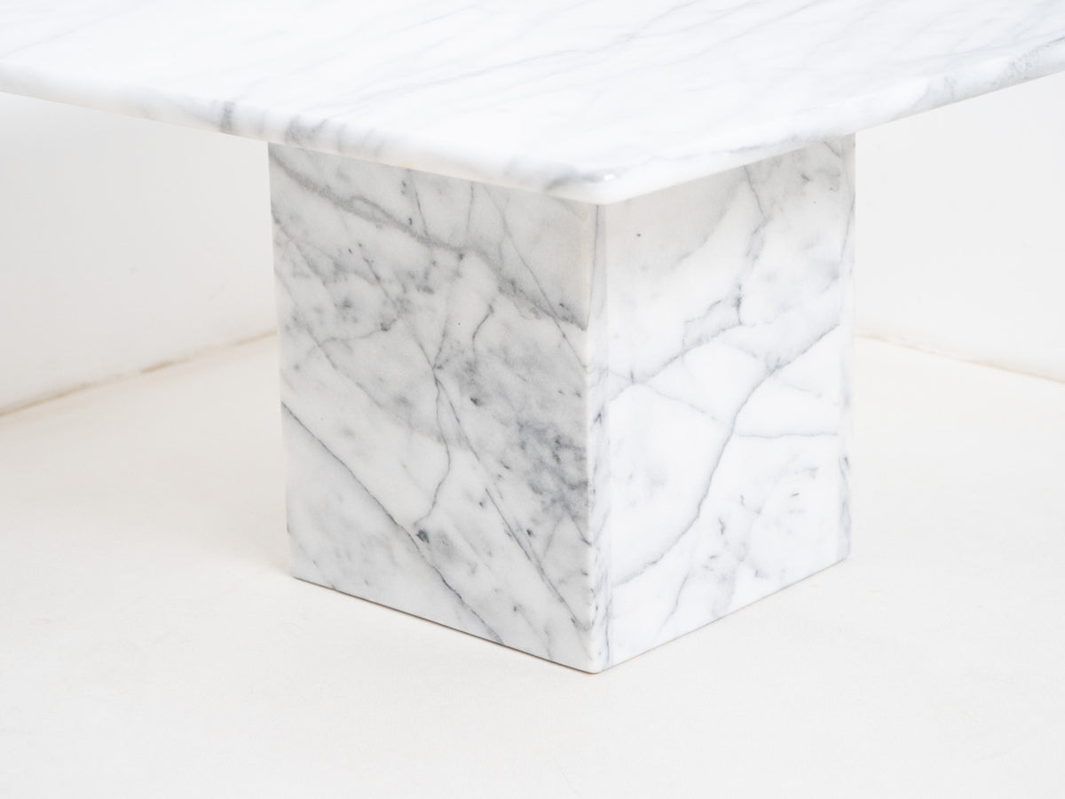 Vintage Italian Tivoli Marble Coffee Table