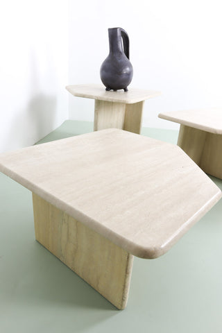Vintage original Italian stone coffee tables