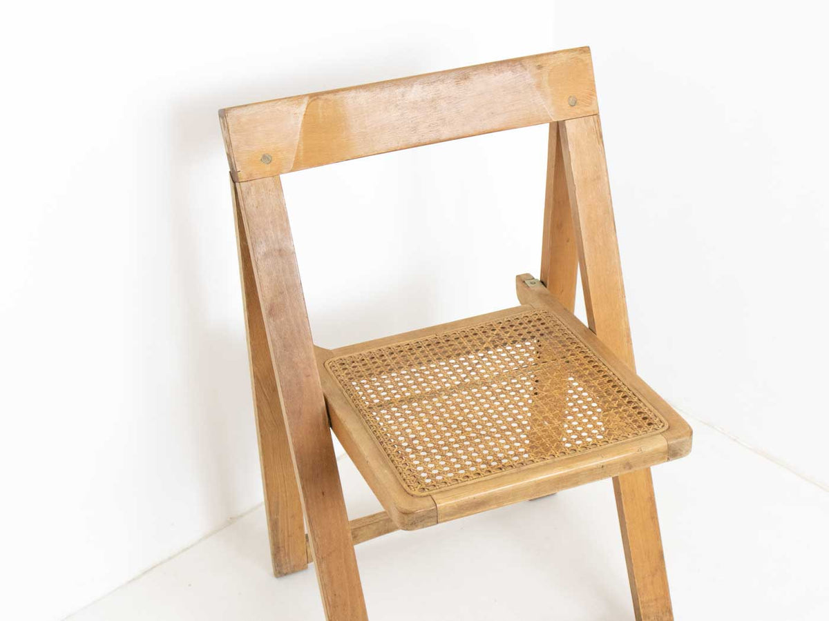 mid century folding chair