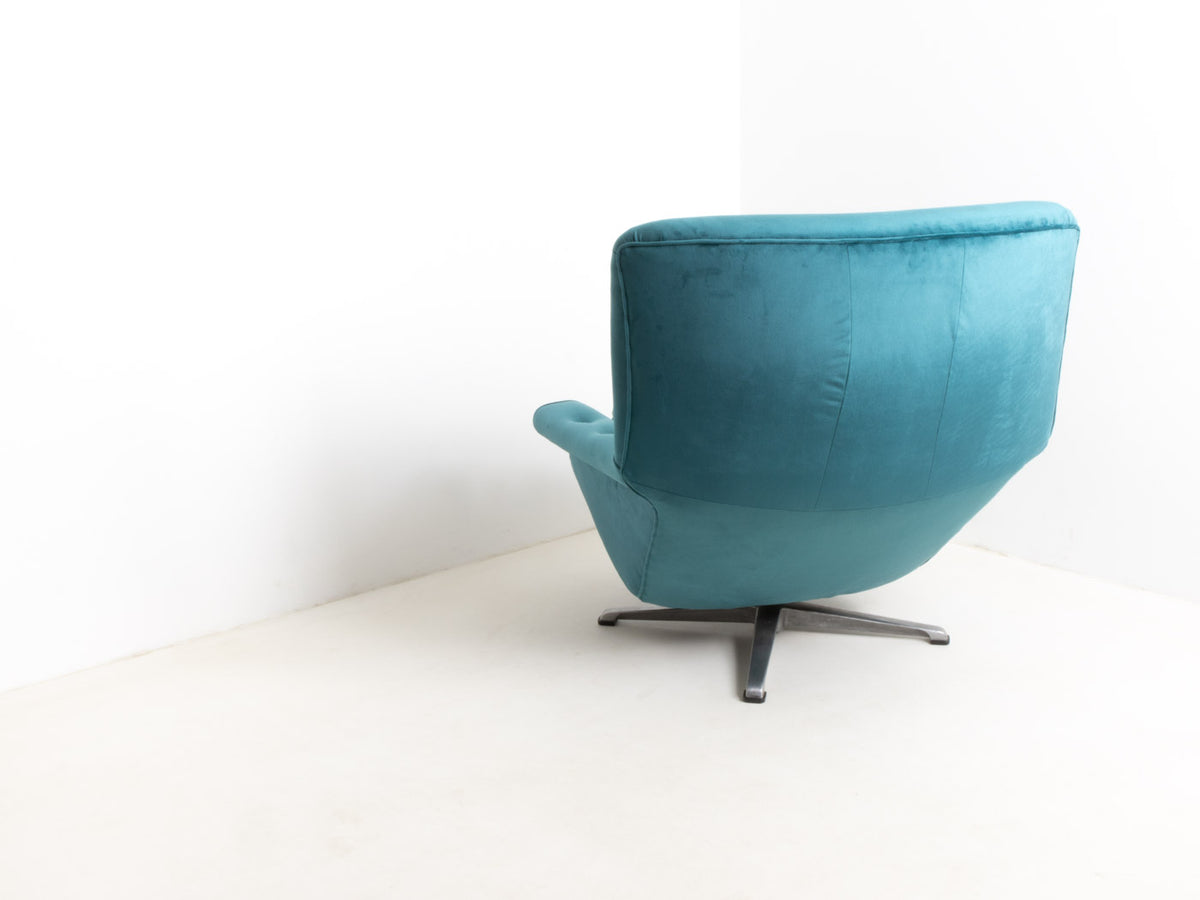Mid century velvet chair