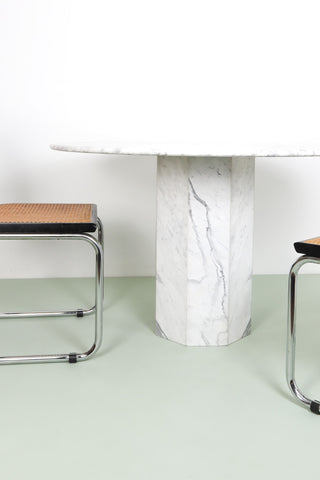 Vintage White Marble Dining Table