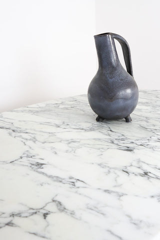 White Italian Marble Dining Table