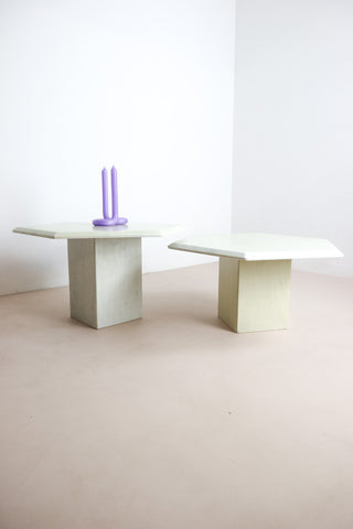 Retro marble side tables London