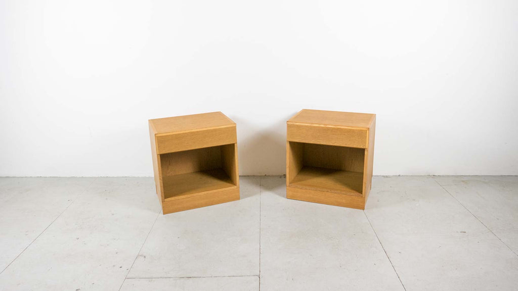 Pair of Danish Modern Bedside Tables - Oak