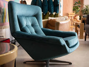 vintage velvet Wingback egg chair