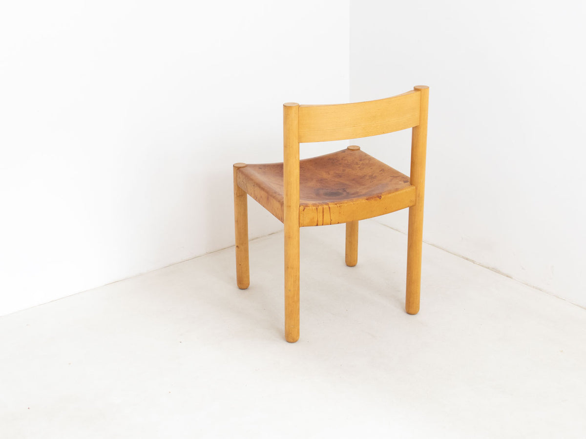 side chair with leather seat