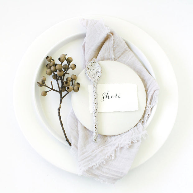 Textured Cotton Napkins - Pearl Oyster