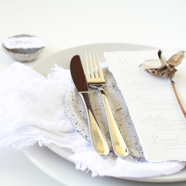 Textured Cotton Napkins - Snow White