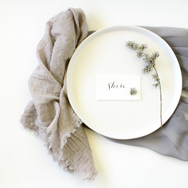 Textured Cotton Napkins - Wild Mushroom