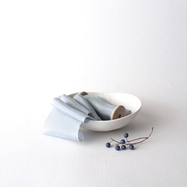 Blue Bonnet - Hand Torn Silk Ribbon