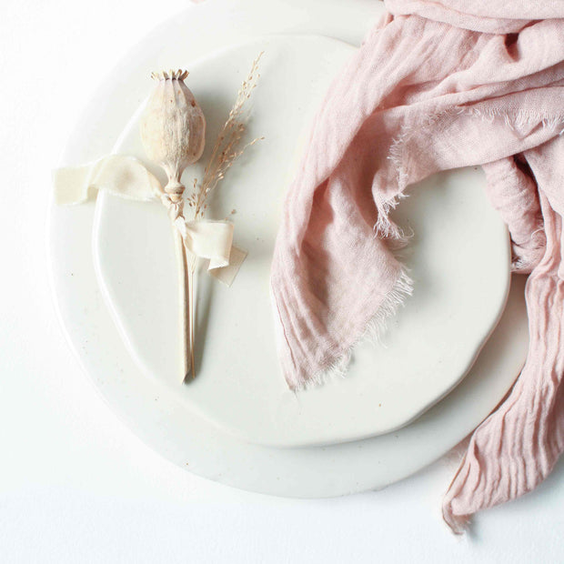 Textured Cotton Napkins - French Blush