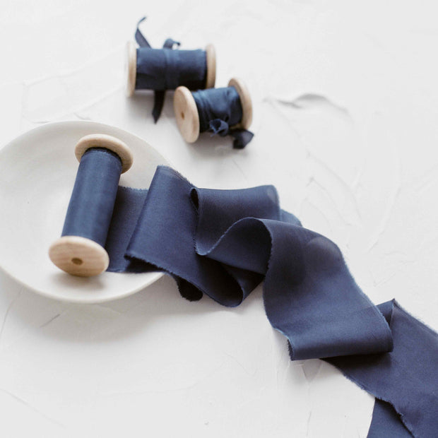 Friar Bird - Hand Dyed Silk Ribbon