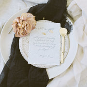 Textured Cotton Napkins - Charcoal