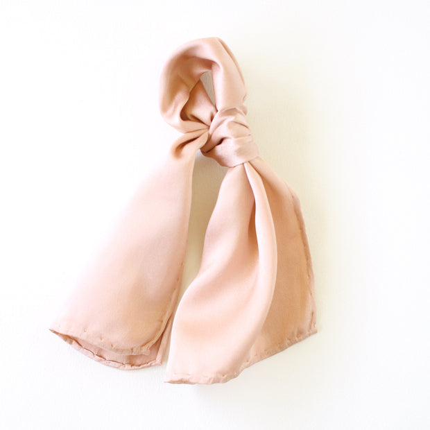 Silk Accessory Scarf - Blush