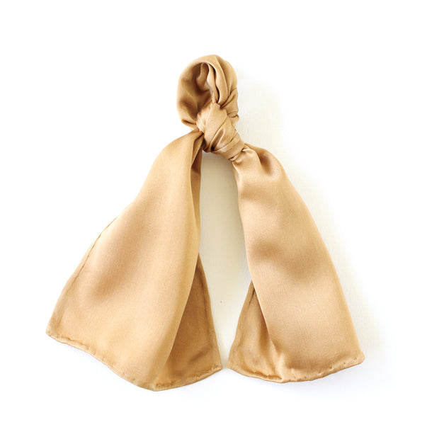 Silk Accessory Scarf - Light Copper