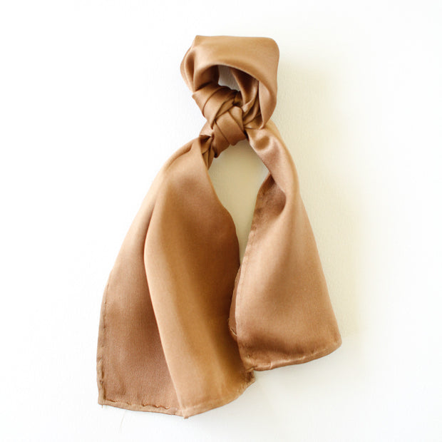 Silk Accessory Scarf - Rose Gold