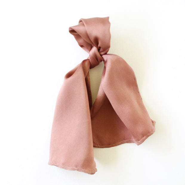 Silk Accessory Scarf - Terracotta Rose