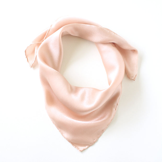 Silk Satin Scarf - Blush