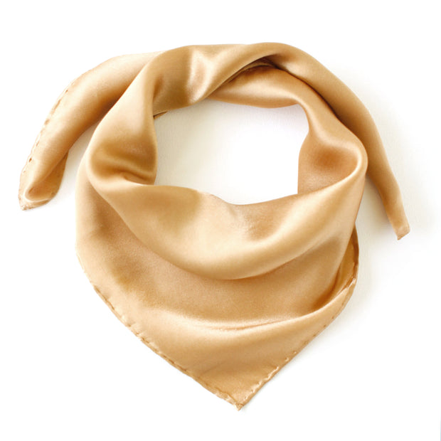 Silk Satin Scarf - Light Copper