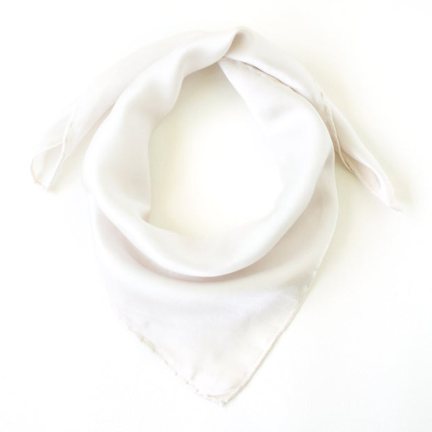 Silk Satin Scarf - Natural Cotton