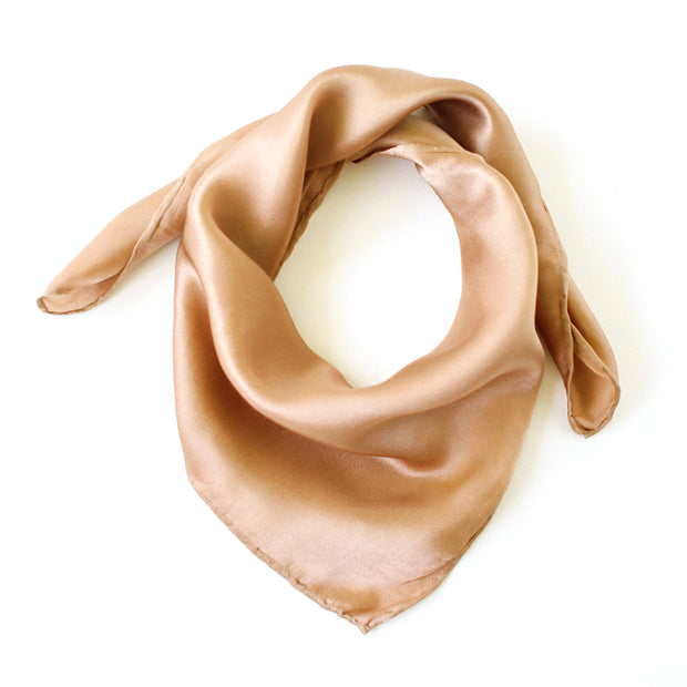 Silk Satin Scarf - Rose Gold