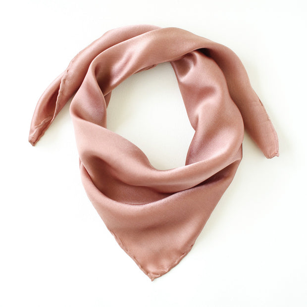 Silk Satin Scarf - Terracotta Rose