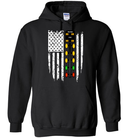 CHRISTMAS TREE USA FLAG HOODIE