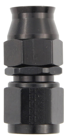 Hose Fitting #6 Straight PTFE Black