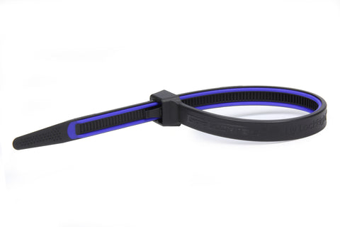GripLockTies 12.35in OAL Blue Rubber 100pk