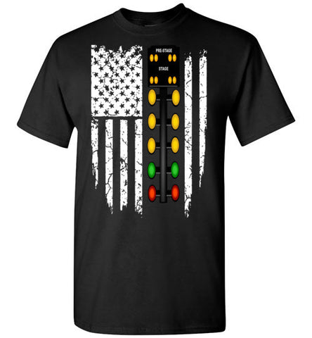CHRISTMAS TREE USA FLAG TSHIRT