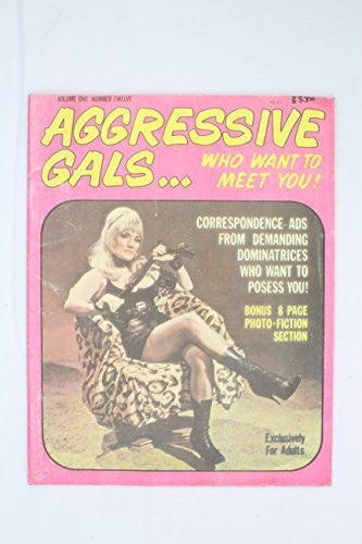 Aggressive Gals Volume 1, No. 12. House of Milan 1972 Vintage Fetish Magazine