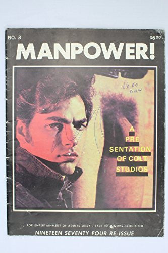 Manpower! No. 3 Colt Studio Publishing 1974 Vintage Reprint Gay Porn Magazine. Tom of Finland