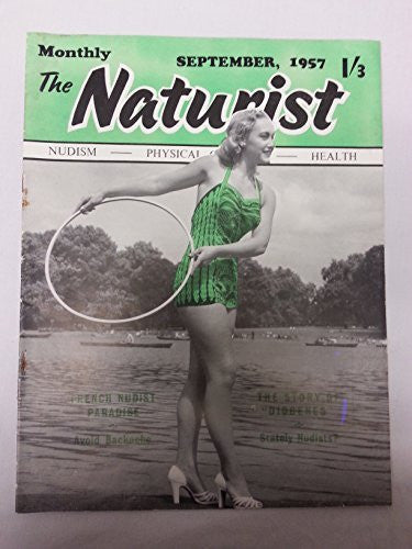 The Naturist Monthly No. 10 Vol. 20 September 1957 Health and Efficiency Vintage Naturist Magazine