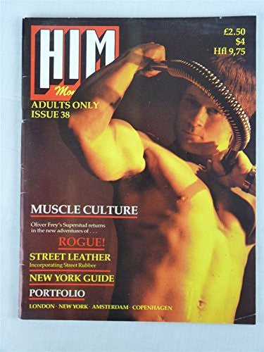 Him Monthly Magazine #38 1981 Vintage Gay Interest Lifestyle Street Level