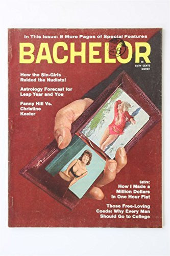 Bachelor Volume 5 #2 March 1964 Vintage Glamour Magazine Fanny Hill Magtab